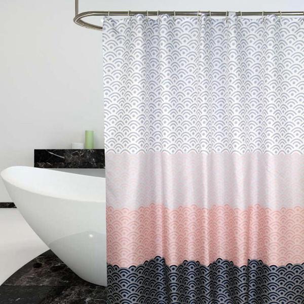 Waterproof Bathroom Shower Curtains Seaworld Painting Luxury Shower Bath Curtain Waterproof Bathroom Curtain + Hanging Hooks