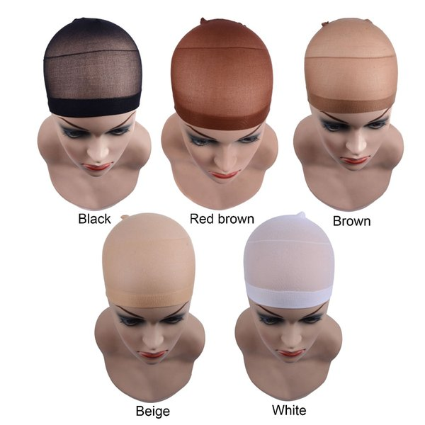 2 pieces/pack size good quality deluxe wig cap hair net for weave hair wig hairnets stretch mesh for making wigs