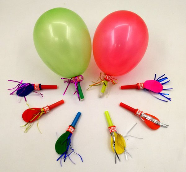 2019 Cute Golden silk balloon blowing dragon whistle children's toy holiday gift suitable party decration christmas gift for kids
