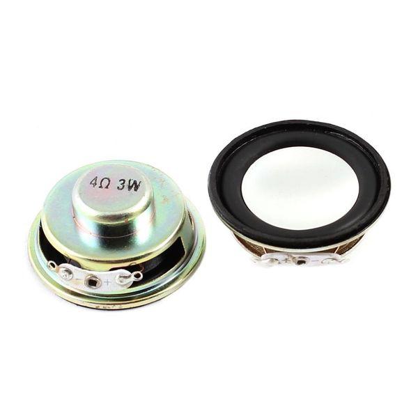 TTKK 4 ohmios 3 W imán redondo metal altavoz 2 pcs