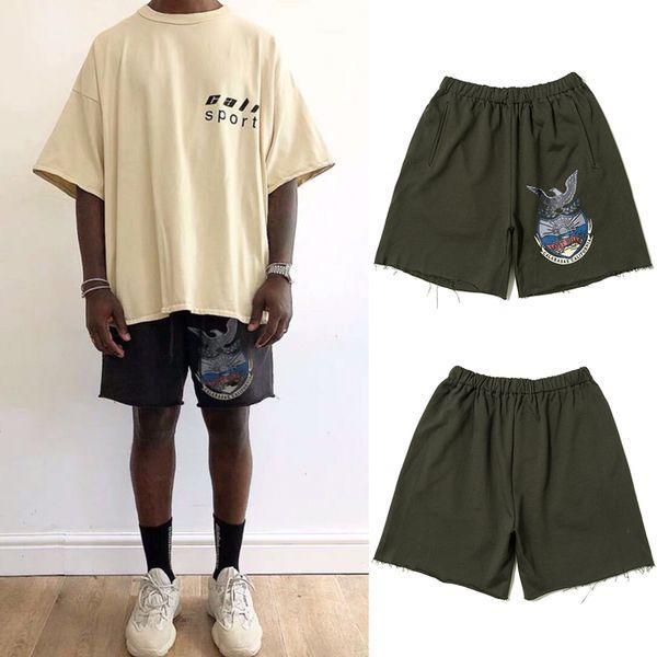 Pantaloncini corti Kanye West Calabasas Pantaloncini corti estivi da uomo Calabasas Season 5 Pantaloncini corti Jogger Terry Eagle TNI0408