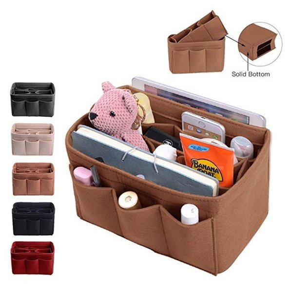 Customized Felt Inner Gallbladder Cosmetic Bags Multi Function Eco Feiendly High Capacity Storage Speedy Bag Handbag zhao