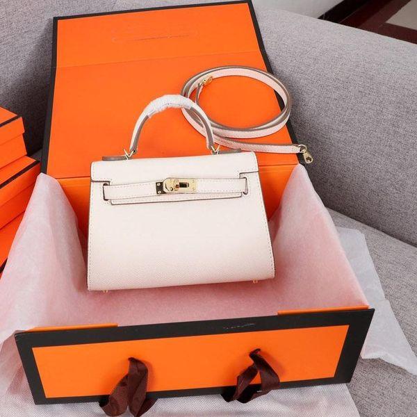 2019 Luxury Kelli Designer Bags Totes 27cm Shoulder Bags With Lock Key Women Bag Cowhide Purses Genuine Leather Bag Lady Crossbody Handbags