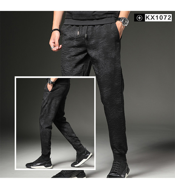 Factory Korean 5 Styles Fashion Summer Wear Men Leisure Pants New Sports Pencil Pants Slimming Youth MenTrousers WY0012