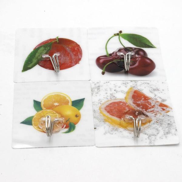 Küche Badezimmer Wandhaken Multi Style Transparent Nahtloser Klebehaken Wasserdicht Ölbeständig Starke Klebehaken BH0024