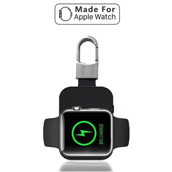 QI Wireless Charger Power Bank for iWatch 1 2 3 4 Portable Mini Wireless Charger External Battery Pack KeyChain for Apple Watch
