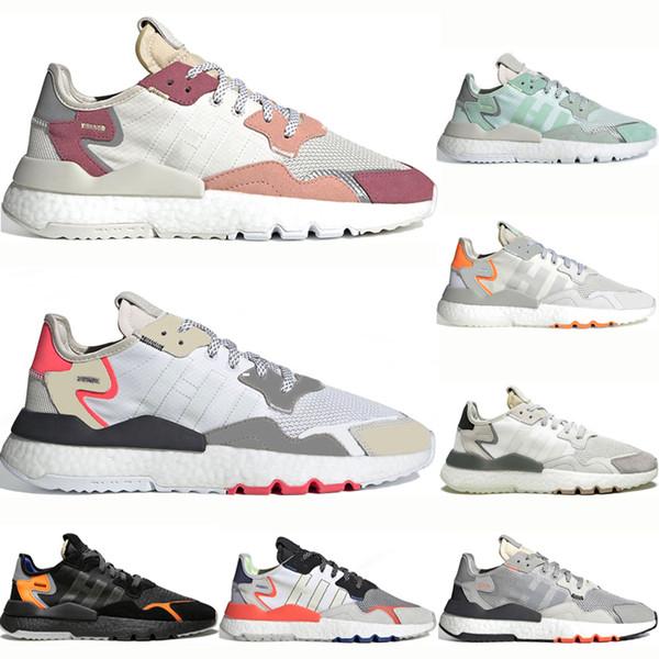 Acheter Adidas Nite Jogger Boost Nite Jogger 3 M Chaussures De Course Réfléchissantes Hommes Femmes Luxe Respirant Triple Noir Blanc Rose Chaussures