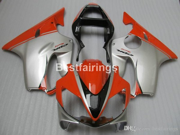 Injection mold ABS plastic fairing kit for Honda CBR600 F4i 01 02 03 silver red fairings CBR600F4i 2001 2002 2003 HW19