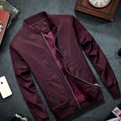best selling 2019 Brand Mens Bomber Jacket Thin Men Baseball Jackets Coat Solid Color Casual Jacket Overcoat For Male Clothing