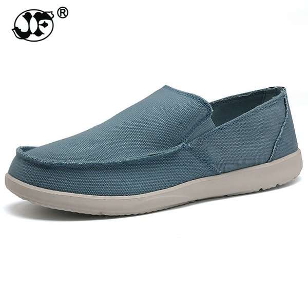 Fashion Summer Men Canvas Shoes Breathable Casual Shoes Men Loafers Comfortable Ultralight Lazy Flats