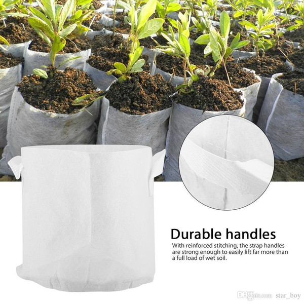 Vasi per alberi in tessuto non tessuto Coltiva la borsa 10 Dimensioni Contenitore per radici Contenitore per piante Mano bianca con piantare fiori Borse in tessuto non tessuto Cresce la cultura
