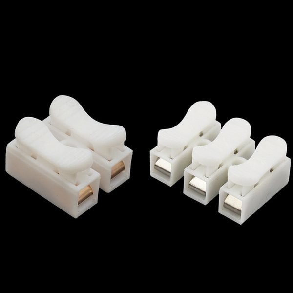 best selling ome Improvement 10PCS Lot G7 Fast Model CH-2 3 Wire Connector Splice Voltage 250V Wiring Terminal Block for LED Lighting Press Type Conne...