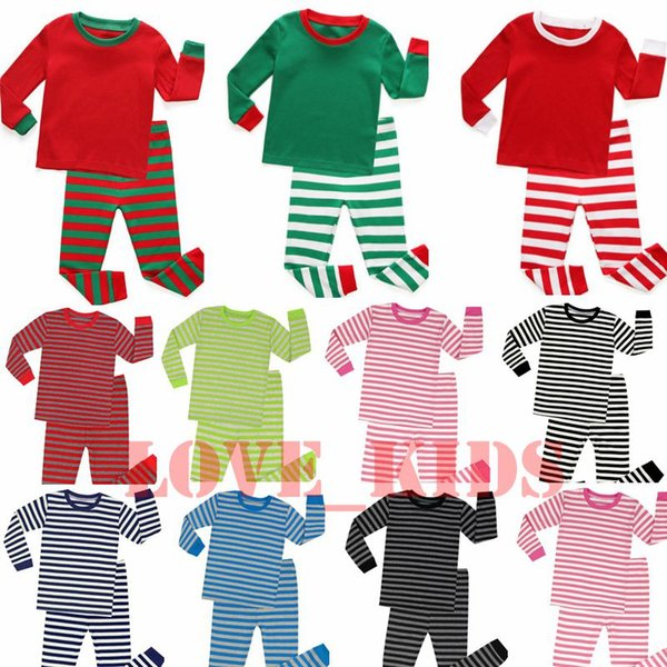 Christmas Pajamas Kids Pajamas Home Clothes Boys Girls Bedgown Leisure Wear Autumn Winter Two-piece Clothing Sets Christmas Nightgown 2-8T