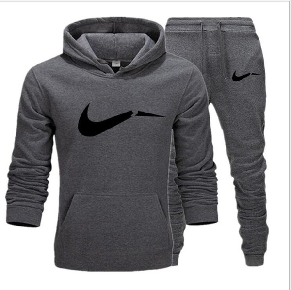 New brand Autumn Hot Sale hoodies Men's Sets hoodies+pants Two Pieces Sets Casual Tracksuit Male Casual Sweatshirt jogger trouse