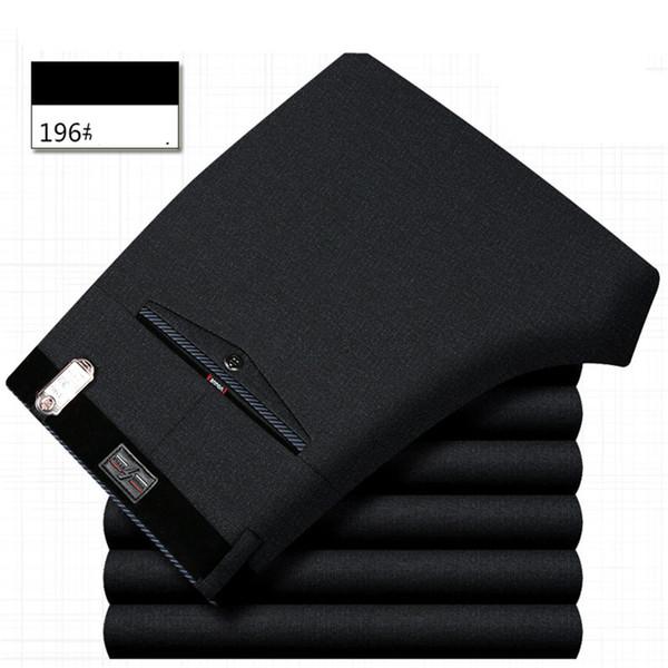 ICPANS Para Hombre Pantalón de Oficina formal de Negocios Elegante Traje Pantalones Hombres Poliéster Algodón Clásico Vestido de Boda Pantalones Hombres Negro Azul 2019