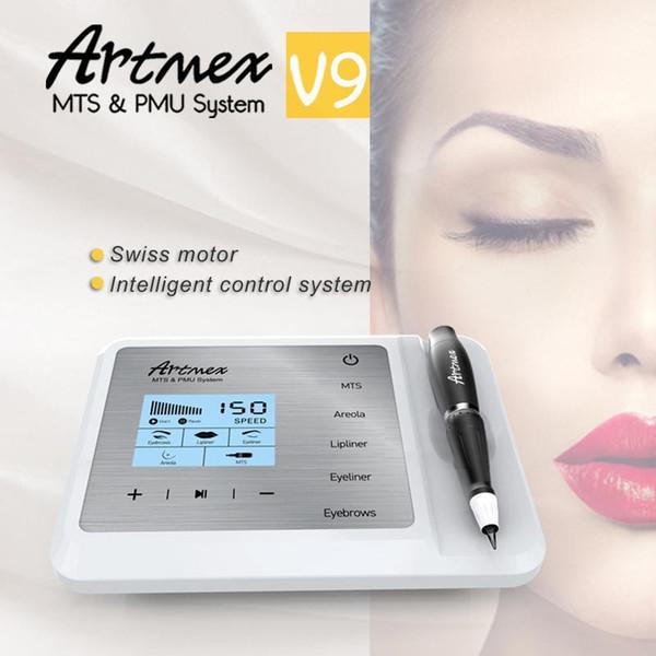 Bocal permanente Eyeline MTS / PMU Digitas da sobrancelha de Digitas da composição de Artmex V9 Máquina permanente profissional da tatuagem da composição