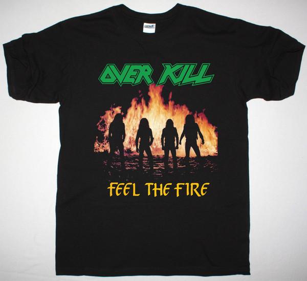 OVERKILL FEEL THE FIRE 1985 BLACK T SHIRT THRASH METAL EXODUS ANNIHILATOR RAZOR Men Women Unisex Fashion tshirt Free Shipping