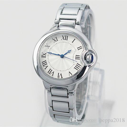 2019 Venta Caliente Moda Señoras Relojes Mujer Hombre Reloj de Acero Inoxidable Pulsera Relojes de Pulsera Marca Mujer Reloj Amantes Reloj Clásico Reloj