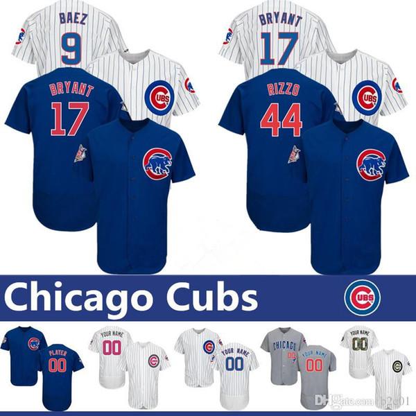 Chicago 9 Cachorros Javier Baez Jersey 44 Anthony Rizzo 17 Kris Bryant 23 Ryne Sandberg 12 Kyle Schwarber 24 Craig Kimbrel Béisbol