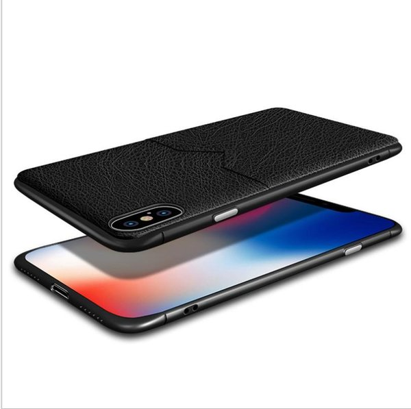 Wholesale retail For iPhoneXSmax PC Soft Case Cover for Apple iPhone X 8 7 6S Plus hot sell thickening Anti fall leather phone cases