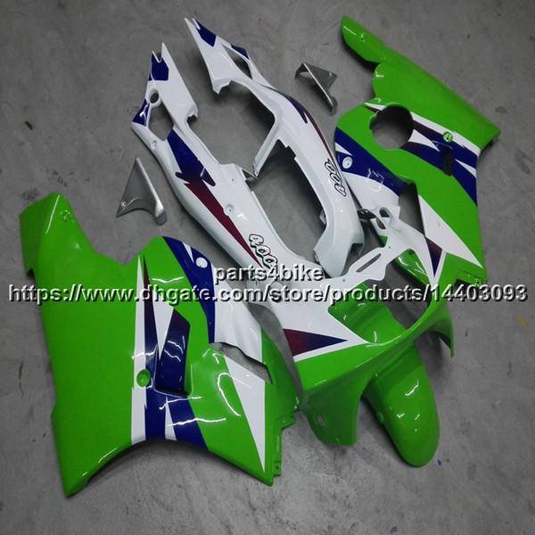 23colors + 5Gifts carénage de moto vert blanc pour Kawasaki ZXR400 1991 1992 1993 ZXR 400 91-93 kit en plastique ABS