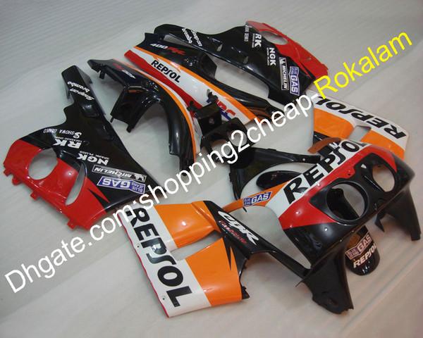 Repsol Carenada para Honda CBR400RR NC29 Carrocería 1990-1998 CBR 400 RR 90-98 1990 1991 1992 Carrocería de motocicletas