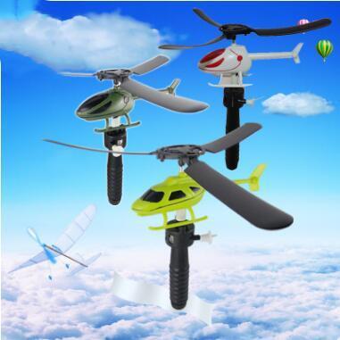 Giocattoli per bambini Maniglia Tirare l'aereo Aviazione Divertente Simpatico Giocattolo da esterno per bambini Gioco da bambini Regalo Modello Aereo Elicottero Bomboniera per bambini LT1135