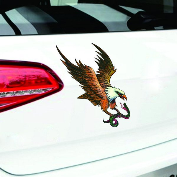 Car Decal Flying Hawk Auto Truck Hood Side Eagle Flag Sticker decor accessory_1.21