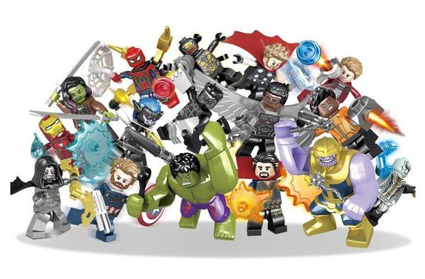 16 teile / los Marvel bausteine Sets Avengers Unendlichkeit Krieg Mini Super Hero Superheld Thor Hulk Captain America Figuren Bausteine Spielzeug