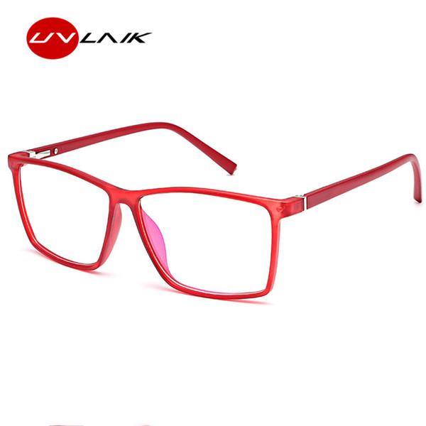 UVLAIK 2019 Frauen Brillengestell Männer Optische Brillengestell Vintage Quadratische Klare Linse Gläser Schwarz Blau Rot Spektakel