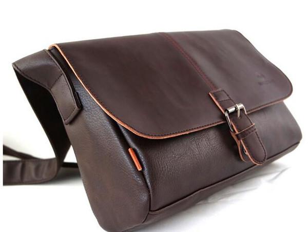 2019 yeni Avrupa ve Amerikan moda eğlence deri PU erkek çantası eğlence tek omuz eğimli çanta postacı çantası 3638 #