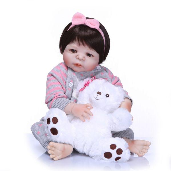 Bebe Reborn Lifelike Full Body SIlicone Girl Reborn Babies Doll Princess Brinquedos Girls Bebe Doll Reborn Menina de Silicone