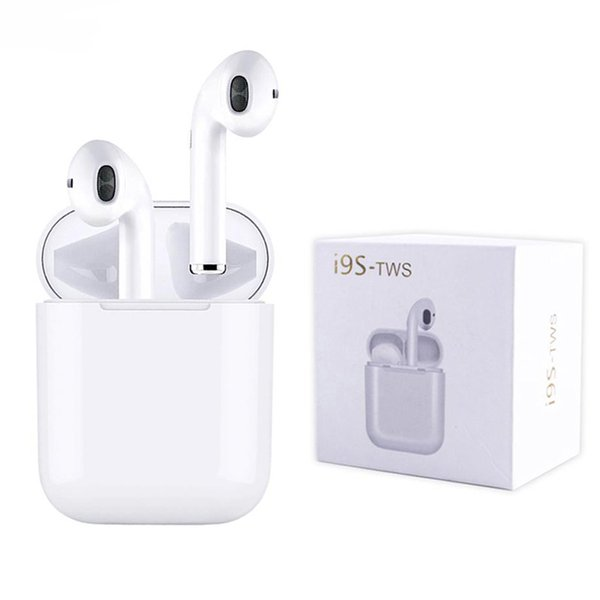 I9 I9S TWS Wireless Earphone Portable 5.0 Bluetooth Headphone Invisible Earbud for iphone Samsung smart phone with Retail Box