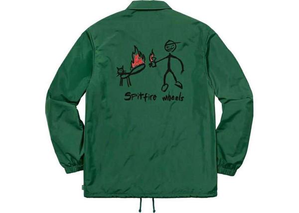 19ss X Spitfire C0aches Jaqueta Escola Uniforme Vento Jaqueta Moda Mulheres E Homens Casaco De Alta Qualidade Outerwear Quatro Cores Jaqueta Hfwpjk095