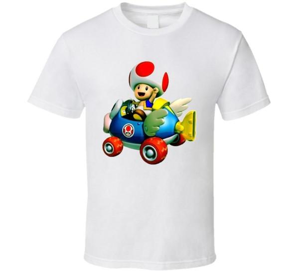 Mario Kart Toad Video Game T Shirt Funny free shipping Unisex Tshirt top