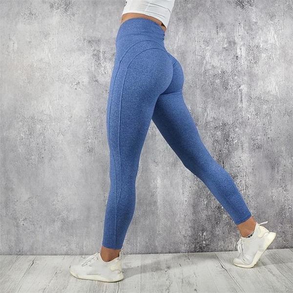 2019 novo ginásio verão esportes yoga moda tendência calças de fitness mostrar fina cor pura nádega calças de fitness yoga