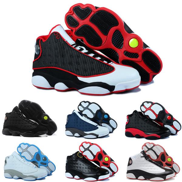 En iyi Kalite 13 s Erkek Basketbol Ayakkabıları 13 Bred Hyper Kraliyet 3 M Siyah Kedi Chicago Erkekler Kadınlar Spor Sneakers Tasarımcı Ayakk ...