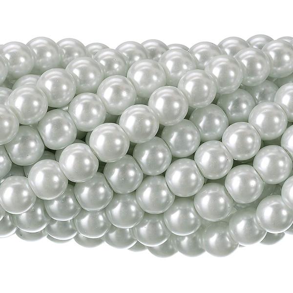 Sonnenschein 200Pcs tschechische kleine Satin-Glanz-Glasperlen-runde Perle für den DIY, der die Schmucksachen bilden 8mm weiß bördelt