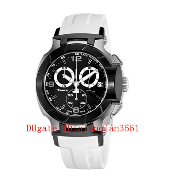 T048.417.27.057.05 Men Luxury Brand Casual Fashion Rubber Band Military Sport Quartz Chronograph Watch T048 T-Sport T-Race