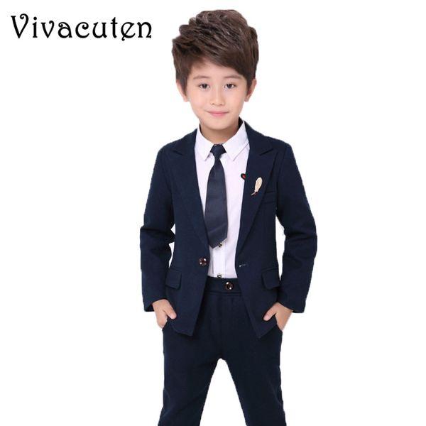 Brand Flower Boys Clothing Set Kids Wedding Formal Dress Jacket Blazer Shirt Pants Tie Suit Children Prom Ceremony Costume