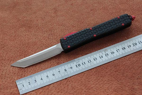 Spedizione gratuita, coltello lama MIKER D2, lega di alluminio placcato con nero / verde maniglia in titanio caccia tasca tascabile di sopravvivenza strumenti EDC