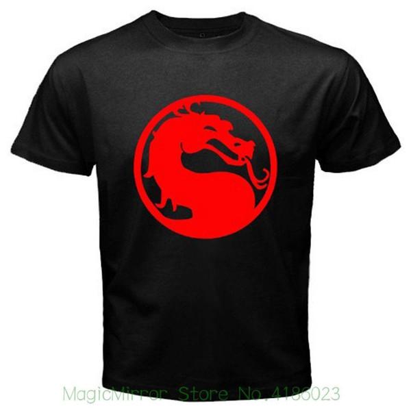Novo Mortal Kombat Videogame E Logotipo Do Filme dos homens T-shirt Preta Tamanho S-3xl T Shirt Manga Curta