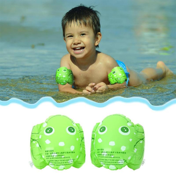 top popular 2pcs Protable PVC Inflatable Armbands Aid Children Frog Floats Swimming rings Arm Bands Inflatable Safety Swim Water Rings 2019