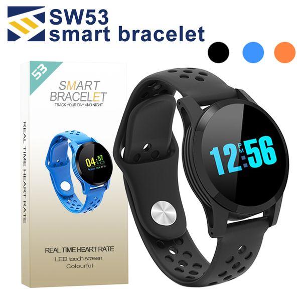 SW53 Smart Armband Fitness Tracker Uhr Herzfrequenz Armband Smartwatch für Apple Android Handys PK Fitbit Mi Band 3 mit Box