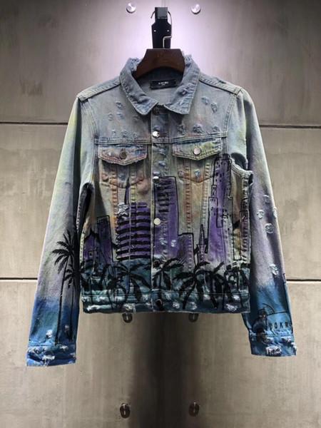 new Denim Jacket Motorbike Motorcycle Jeans Jacket Coat Man Fashion Slim Windbreaker Streetwear Couples blue