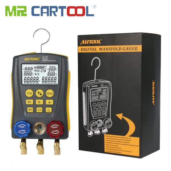 Mr Cartool HVAC Vacuum Pressure Temperature Tester Leakage Test Refrigeration Tools Digital Manifold Gauge Meter (no clip)