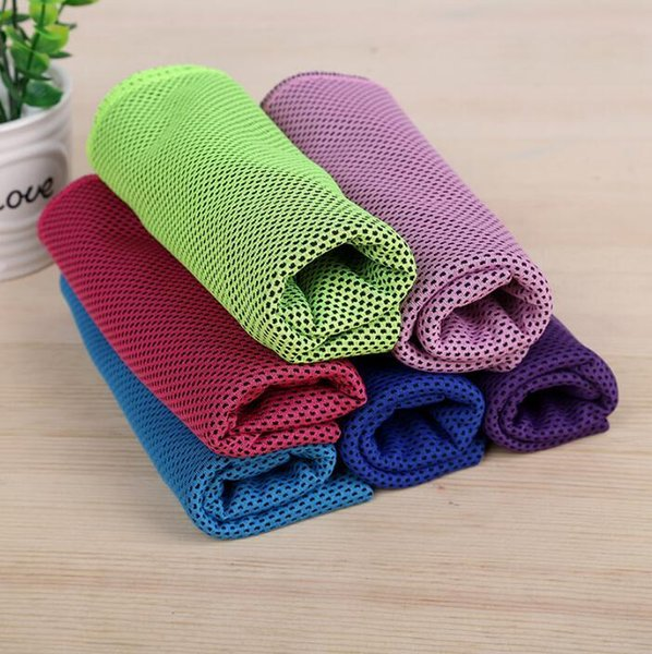Double Layer Ice Cold Towel Cooling Summer Sunstroke Sports Exercise Cool Quick Dry Soft Breathable Cooling Towel