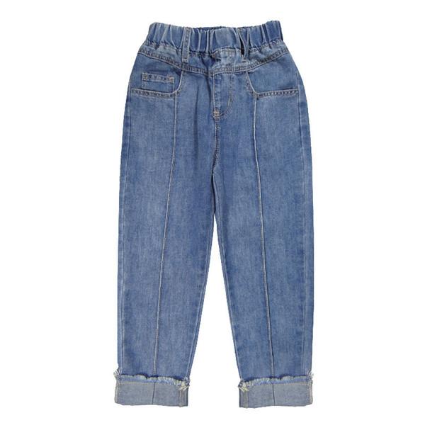 I nuovi jeans delle ragazze della molla delle 2019 grandi pantaloni allentati del harem del ragazzo coreano pantaloni dei pantaloni di marea dei pantaloni dei bambini di versione
