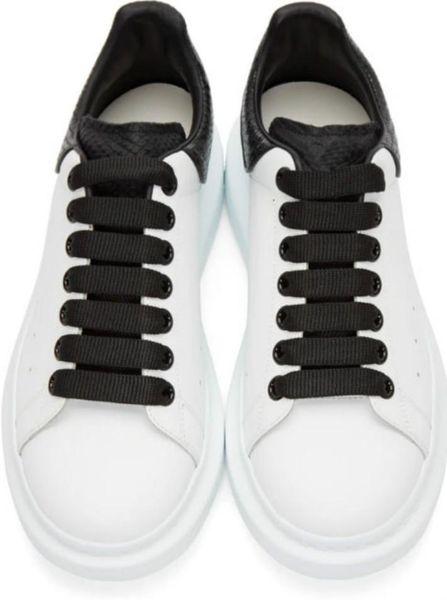 Designer Männer Frauen Sneaker Freizeitschuhe Fashion Smart Platform Trainer Luminous Fluorescent Schuh Snake Back Leder Chaussures Pour 6fgh