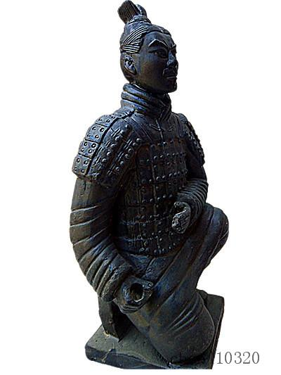 Terracotta Warriors Kneeling Statue 42 cm height Designer replica Ancient Qin Shihuang warrior eighth wonder world Great Xi'an history